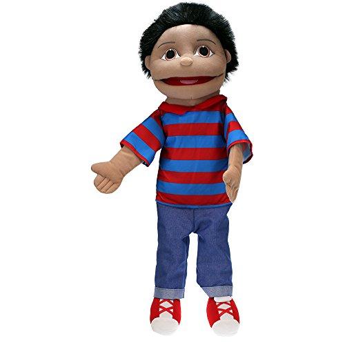 Kostüm Buddy Einfache - The Puppet Company - Puppet Buddies - Junge, mittelgroß (olivfarbene Haut)