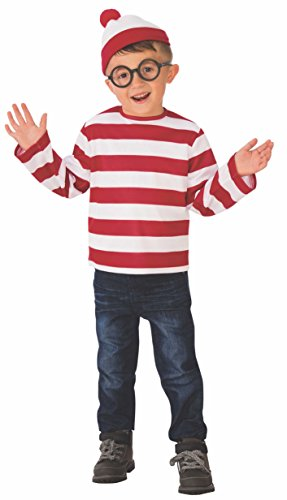 Junge Waldo Kostüm Where's - Where's Waldo Child Costume - Medium