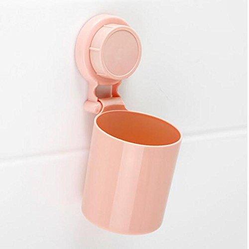 Z@SS-Kreative Paar Sauger Zahnbürstenhalter Saugwand Zahnbürste Tasse Spülen Tasse Bürste Zahn Tasse Zahnbürste Box . pink 1