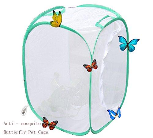 1 Weiß pack pflanzen zelt Pflanzen Gewächshaus Transparent Wasserdicht Anbau Zimmer Anti-moskito Box Schmetterling Pet Cage wachsen zelt, Mini Gewächshaus Wachsen Haus