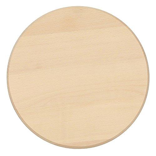 Bütic Buchen Schinkenteller - rund - Holzteller Schneidebrett FSC, Brettgröße:50 cm Durchmesser