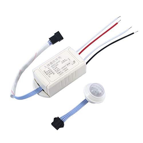 AC 220 V IR Infrarot-Modul Körper-Sensor Intelligente Lichtschalter einstellbare Bewegungserkennung PIR-Schalter fgyhty -