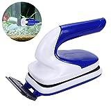Cepillo de limpieza magnética para tanque de peces - OWUDE Aquarium - Limpiador de vidrio para doble cara - Cepillo para limpieza de algas - Cepillo limpio flotante con raspador (pequeño)
