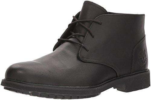 Timberland Herren Stormbucks Chukka Boots, Schwarz (Black Smooth), 44.5 EU (Herren Leder Chukka)