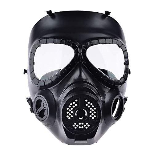 Hot Cs Airsoft Paintball Dummy Gas Maske Mit Fan Für Cosplay Protection Halloween Evil Antivirus Skull Festival Decor