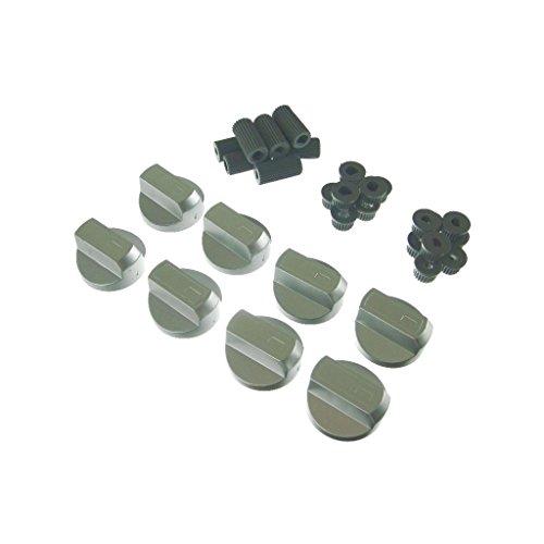 Ufixt & # 174; 8x Hotpoint, Howdens, Hygena e Indesit universale fornello/forno/grill manopola di controllo e adattatori argento