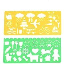 Kcopo Vorlage Lineal Zeichnung Lineal Studenten Schreibwaren Messung rahmen Kunststoff Studenten Kinder Vorlagen Lineal Für größere Ansicht Maus über das Bild ziehen