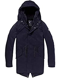 Scotch   Soda Classic Hooded Parka with Check All-Over Print and Teddy Lin, b947ed419c17