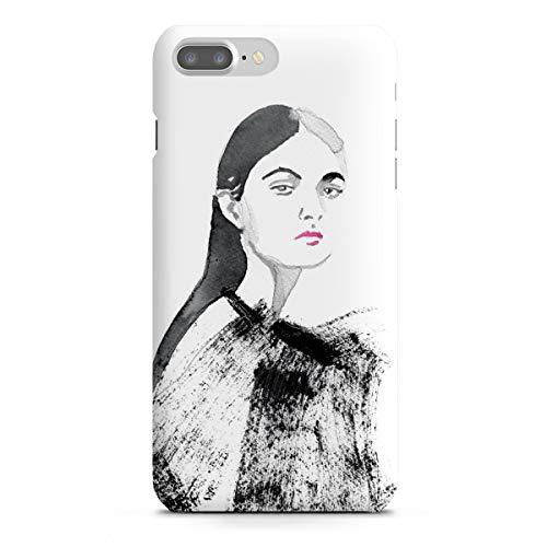 artboxONE Apple iPhone 7 Plus Premium-Case Handyhülle Pink Lipstick von Sarah Plaumann