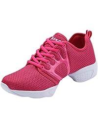 cbeb2187ce18 Tenthree Schuhe Sport Tanzschuhe Damen - Mesh Lace Up Schuh Modern Tanz  Jazz Tango Gymnastik Sportschuhe