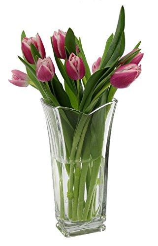 Vinciana, vetro italiano, vaso di fiori in vetro