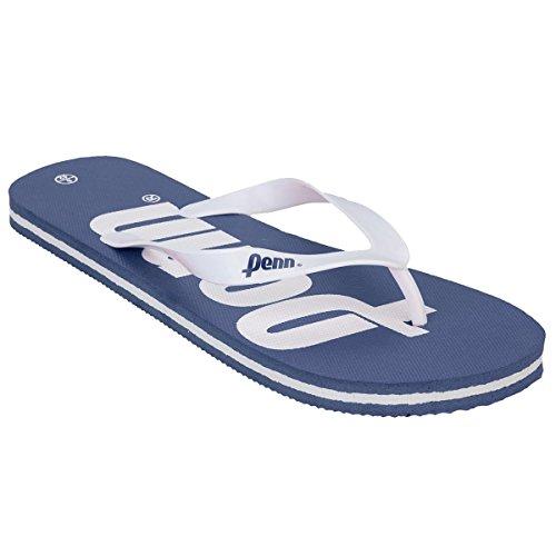 mens-penn-logo-textured-slip-on-summer-beach-flip-flops-navy-uk8