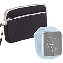 DURAGADGET Funda De Neopreno Perfecta Para Reloj AGPtek A1 | LaTEC | Pebble Classic | Time Round | Posma W1 | Pushman 1 | Zolimx U80 - En Negro