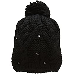 Roxy Shooting Star Beanie Gorro, Mujer, Negro (Anthracite Solid), Talla Única
