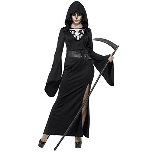 (Smiffys Damen-Kostüm Reaper, Größe 24-54)