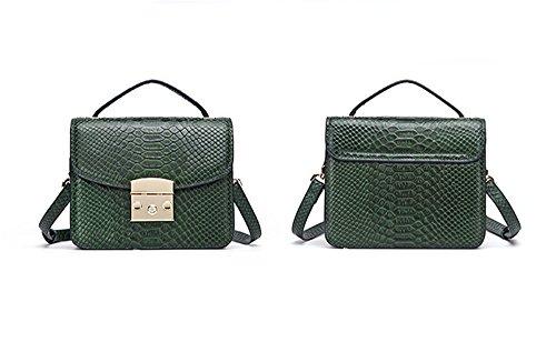 Xinmaoyuan Sacs à main pour femme en cuir sacs à main printemps petit carré boucle Portable sac sac Messenger green