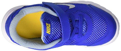 Nike Flex Experience 4, Chaussures Bébé marche mixte bébé Bleu (Hypr Cblt/Mtllc Slvr-Vrsty Mz)