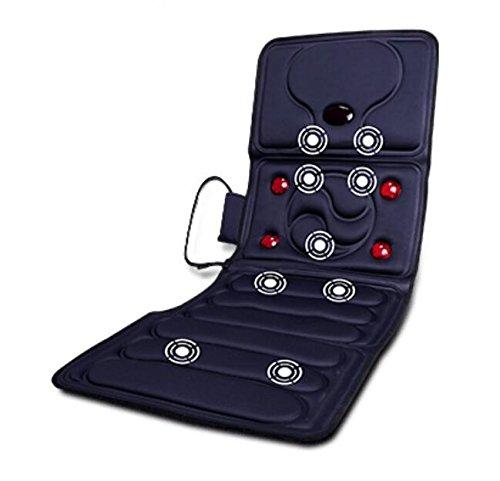 Massagematte mit vibration wärme und timing-funktion,9 motoren,9 programme,5 geschwindigkeit massageauflage für haus büro