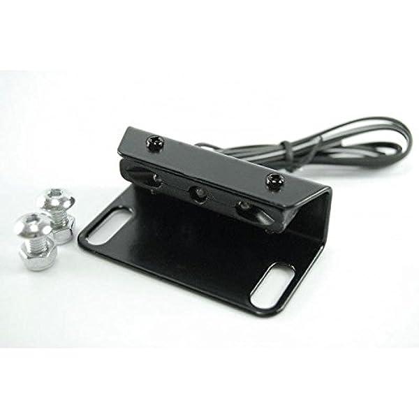 Mini Led Kennzeichenbeleuchtung Mit Halter Für Kennzeichenhalter Kennzeichenträger Nummernschild Halter Halteplatte Universal Motorrad Auto