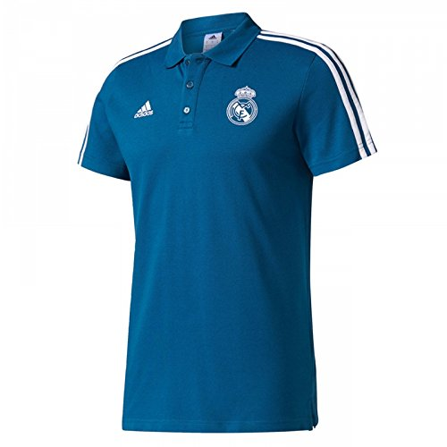adidas 3S Polo Real Madrid, Hombre, Multicolor (Petnoc / Blanco), XS