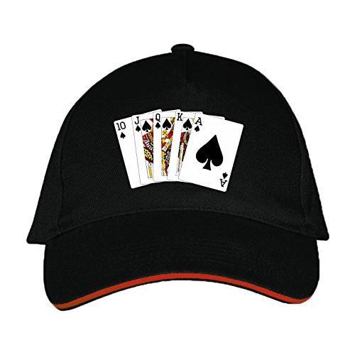 Basecap mit Poker bedruckt (Poker Schwarz)