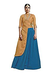 Viva N Diva Silk Lehenga Choli (22663_Orange_Free Size )