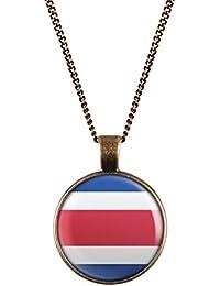 14623132b140 WeAreAwesome Costa Rica bandera collar - países cadena bandera colgante  Unisex Cadena