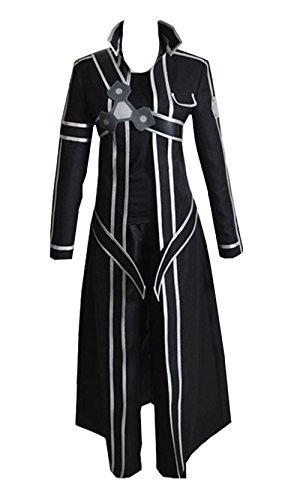 Cosplayfly Sword Art Online SAO Kirito Kazuto Kirigaya Halloween Karneval Cosplay Kostüm Schwarz Angepasst