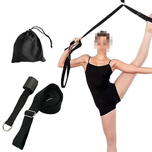 GZQ Ballett Stretch-Band Dehnen Bein Bewegung Gurt Trainer für Cheer Dance Gymnastik Taekwondo & MMA, Schwarz (Stretch-bänder, Gymnastik)