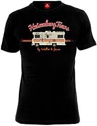 T-shirt Breaking Bad Heisenberg Tours pour les fans de la série, grand motif à l'avant - Coton - Noir