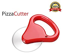Bagonias Ankur Pizza Cutter with Stainless Steel Blade | Razor Sharp Cutter |Pizza Slicer - for Pizza Lovers | Hanging Loop for Easy Storage in Your Home Kitchen (Random Color Red, Green, Purple)