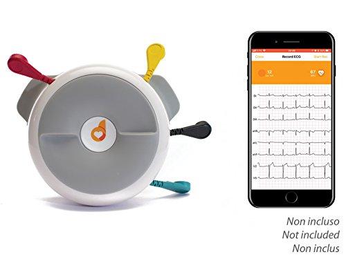 D-Heart Tragbares ECG-Gerät mit 8 Drittanbietern, tragbar, kompatibel mit Smartphone und Tablet über Bluetooth