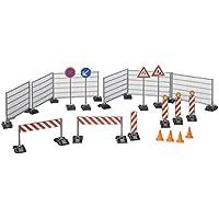 Bruder 62007 - Zubehör Baustellenset: Zäune, Schilder und Pilonen