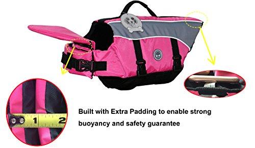 Vivaglory Dog Life Jacket Adjustable Buckle Dog Safety Vest Pet Lifesaver Coat 4