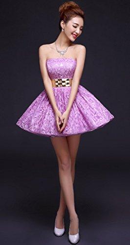 drasawee robe robe courte de soirée bridemsmaid Junior Homecoming robes Rosa - Pink