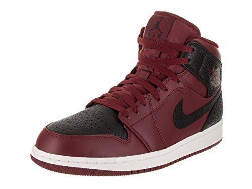Nike Herren Air Jordan 1 Mid Basketballschuhe, Rot (Team re D Schwarz Summit Weiss 601), 44 EU