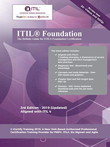 ITIL® 4 Foundation Certification Guide: Includes 20+ Videos and 6 practice tests to get you certified !! (English Edition)