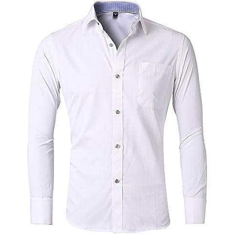 Harrms hommes chemise Style français chemise boutonnée Mode d'affaires chemise