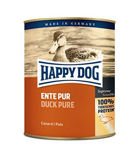 Happy Dog Cibo Umido per Cane Ipoallergenico Pure Duck (Ente Pur) - 6 x 800 gr
