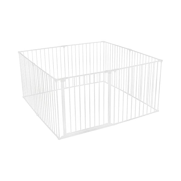 Safetots Play Pen (White, 144 x 144 cm) Safetots perfect solution for keeping baby in a safe area whilst they rest and play Includes 1x 72cm Gate Opening Panel and 7x 72cm Panels Extra wide door section for easy access 1