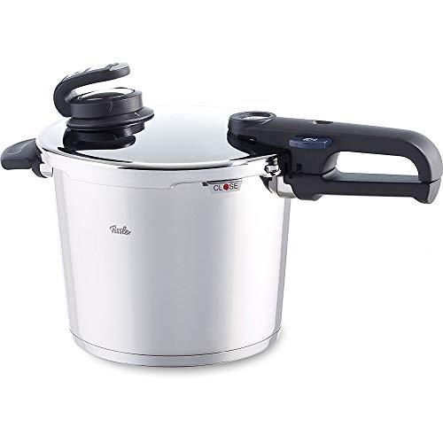 Fissler Schnellkochtopf vitavit premium 6.0 Liter, 22 cm, induktionsgeeignet + Kochassistent vitacontrol digital | Bluetooth Zubehör-Modul Kochhilfe für vitavit edition