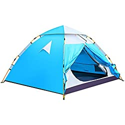 Campaña MAZHONG Camping Dome Tent Toldo Ligero Impermeable Doble Bastón De Aluminio Playa Familia Al Aire Libre Caza Senderismo