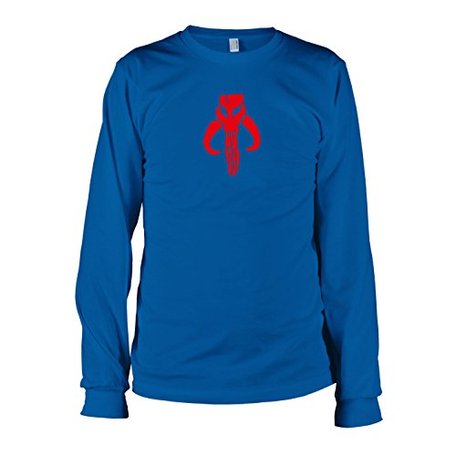 Fett-logo-t-shirt (TEXLAB - Logo der Mandalorianer - Langarm T-Shirt, Herren, Größe XXL, marine)