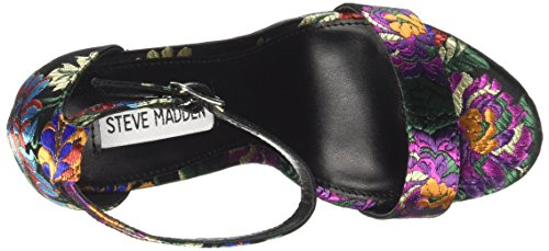 Steve Madden Carrson, Scarpe Col Tacco Punta Aperta Donna Nero (Black Multi)