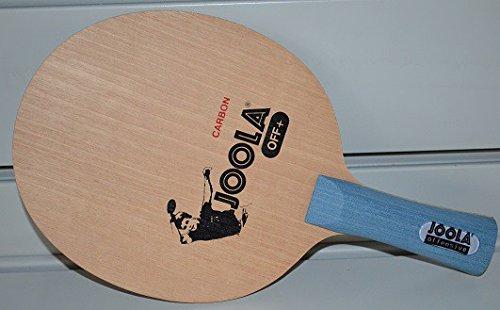 Sonderangebot zum Saisonstart! Joola Holz Carbon OFF+, FL, konkav mit Stiga Airoc M 2,1 mm Belägen rot/schwarz
