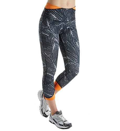 Champion - Leggings Femme Black Cell Zoom/Orange Wedge
