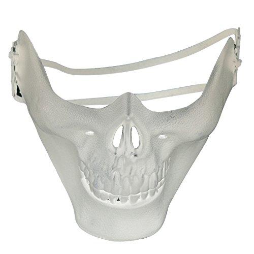 joyliveCY Máscara de Media Cara Máscara de Esqueleto de...