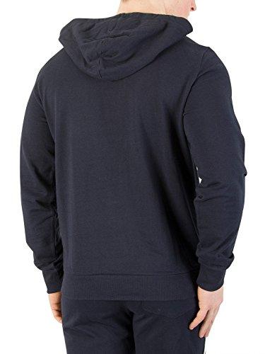 Emporio Armani Herren Grafik Pullover Hoodie, Blau Blau
