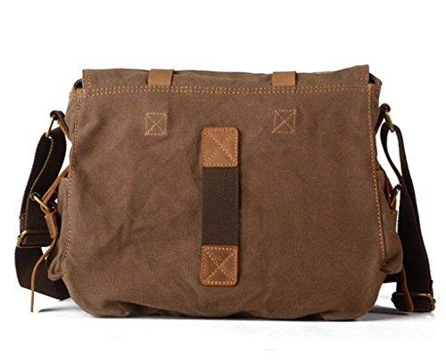 Seasofbeauty tracolla in tela, stile Vintage, in pelle, con tracolla Wheat Misura unica - marrone
