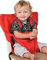 Baby High Chair Dining Eat Feeding Safety Travel Car Seat Harness Belt Fastener, Red